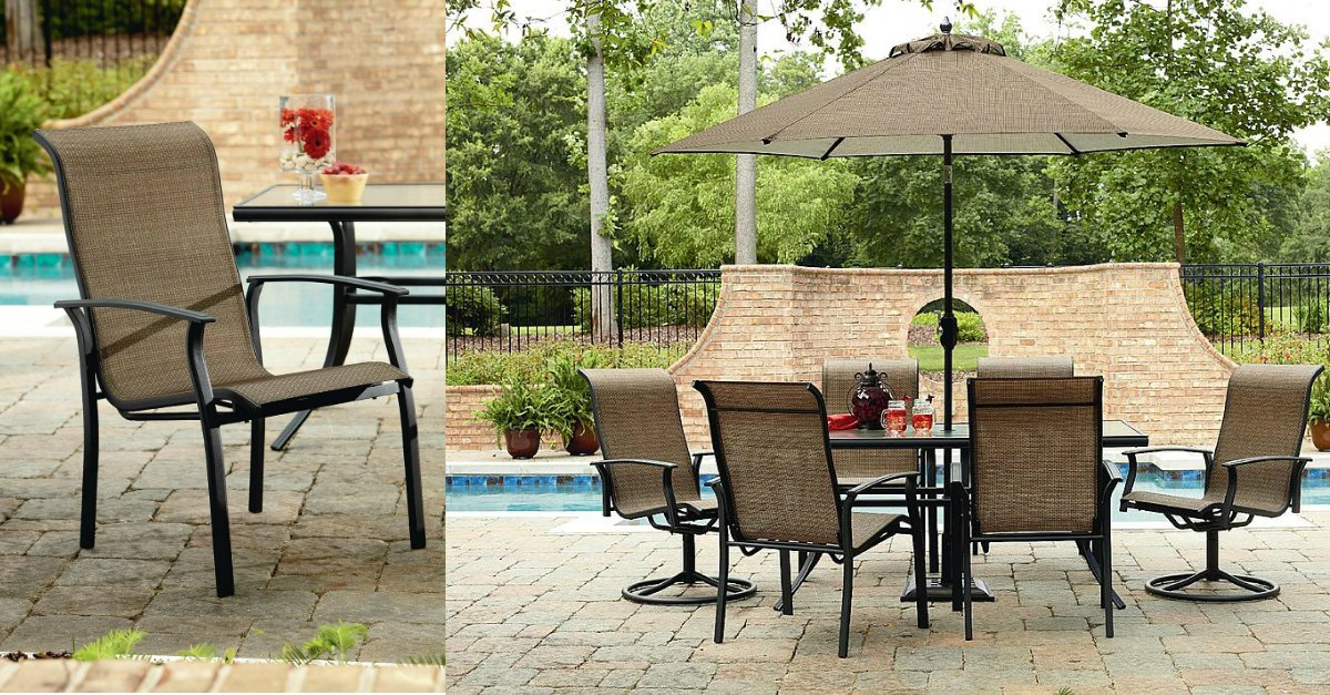 Sears garden oasis 7 piece dining set more 600 value Garden oasis harrison 7 piece dining set