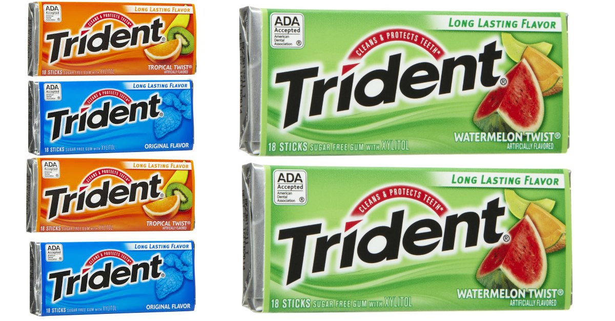 graphic about Trident Coupons Printable identified as Concentrate: 3 Cost-free Trident Gum Packs! ($1 Worth)
