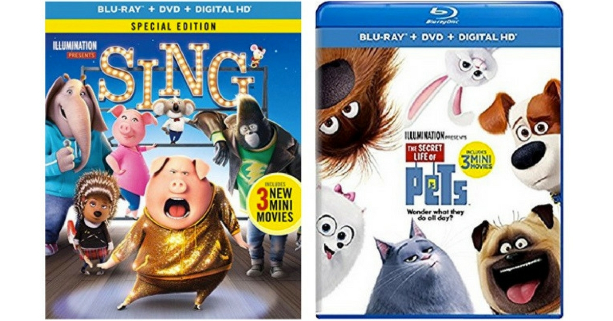 Sing & Secret Life of Pets Blu-Rays