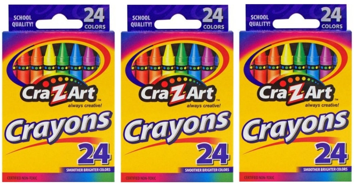 FREE SHIPPING Cra-Z-Art 24 Count Smoother Brighter Colors Crayons