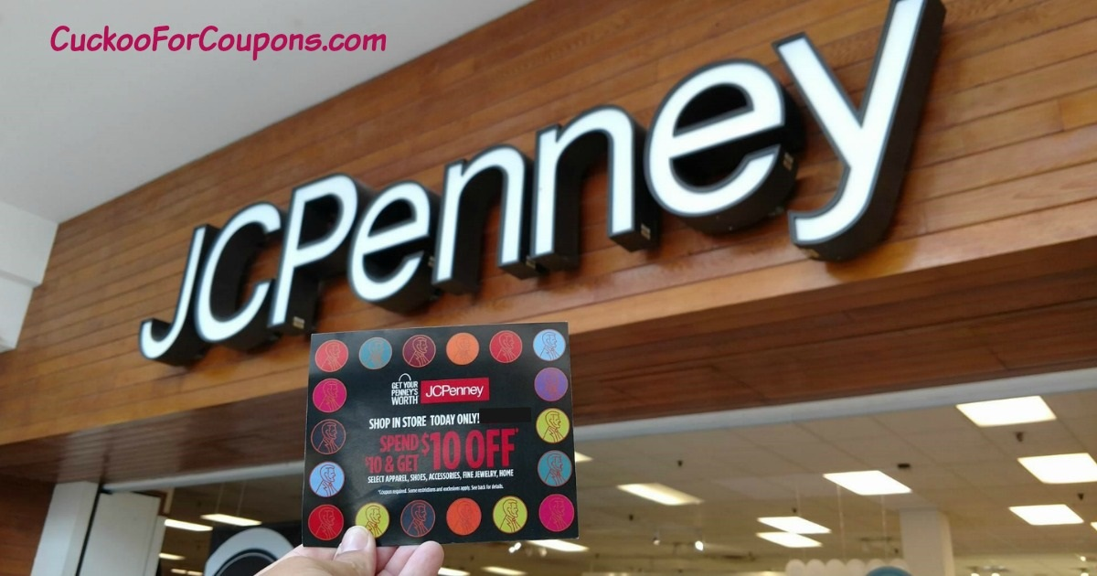 JCPenney $10 Coupon Giveaway Main & Social