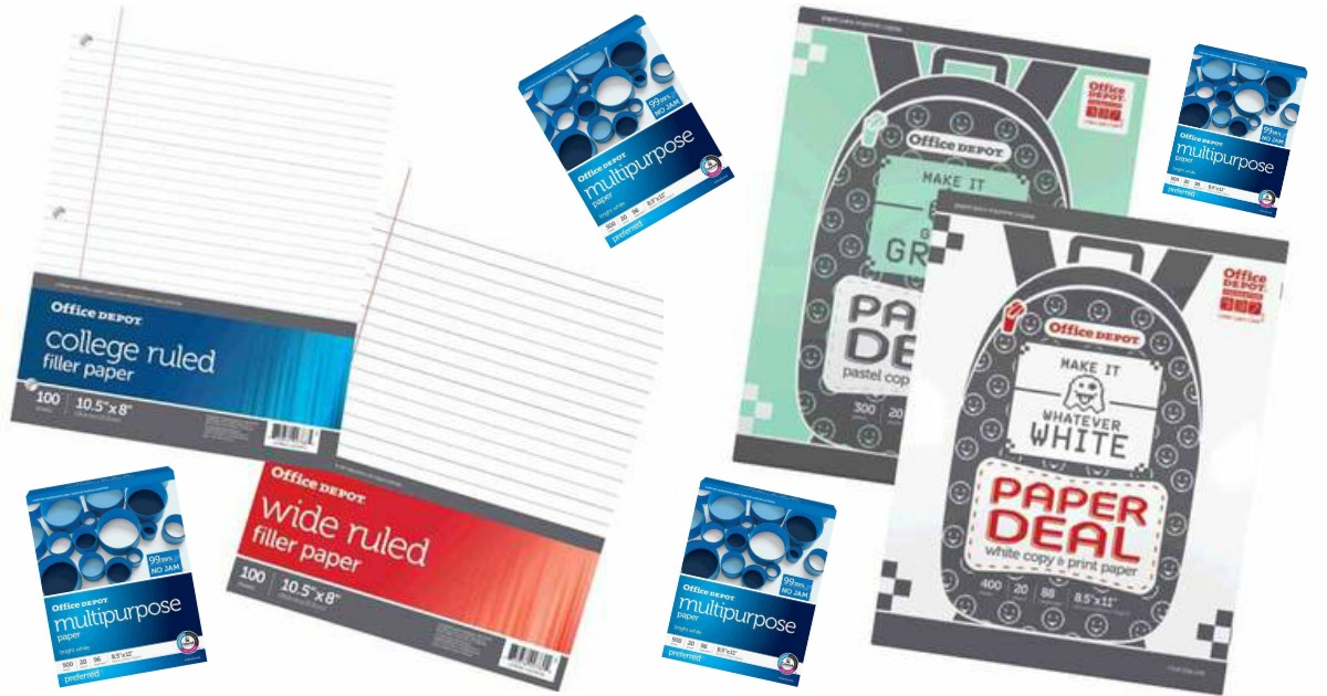 Office depot office max penny deals for paper up to 6 for Deals by depot