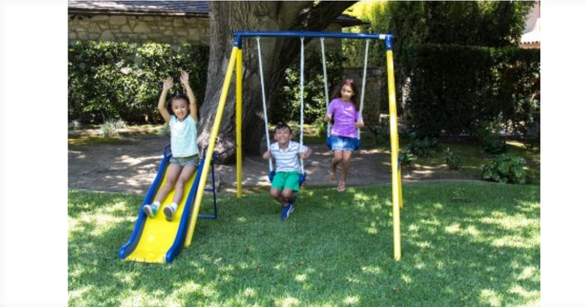 sportspower metal swing set fb