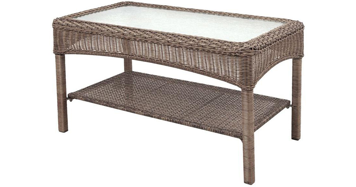 Home Depot: $32 Martha Stewart Outdoor Wicker Coffee Table Shipped ...