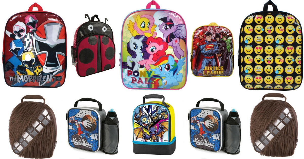 Toys R Us Backpacks + Lunchboxes (2)