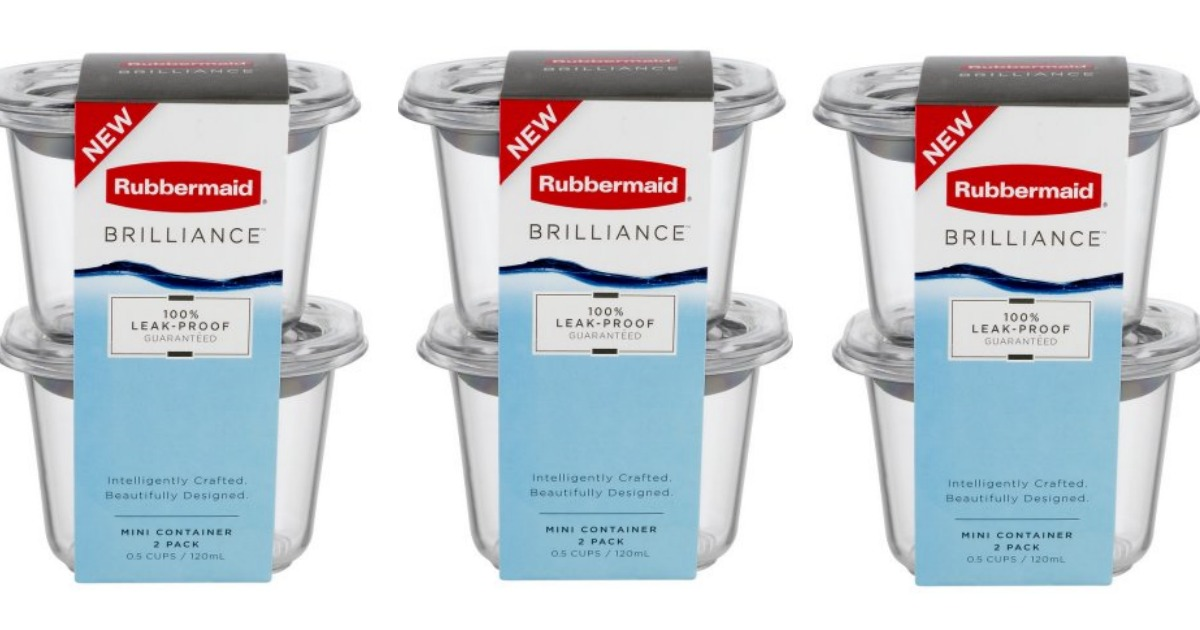 Target 199 Rubbermaid Brilliance Containers 5 Value
