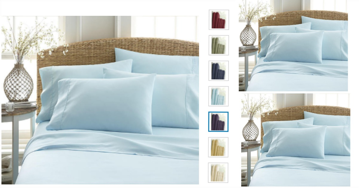 Ideal Head to Kmart and snag this Ienjoy Home Premium ultra soft piece bed sheet set for as
