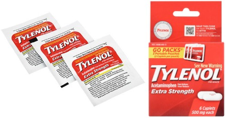 Tylenol Go Packs Feature