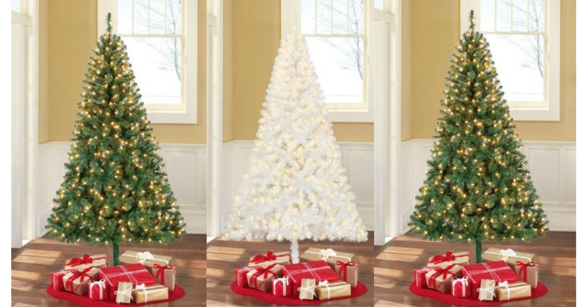 For A Limited Time, Walmart Has Christmas Trees On Sale! Shipping Is FREE  For Orders Of $35 And In Store Pickup (if Available.)
