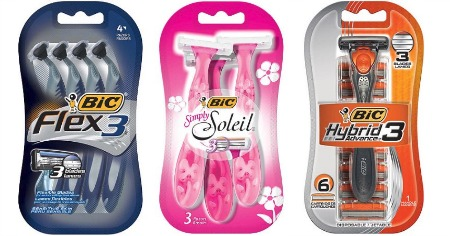 Bic Flex 3, Simply Soleil, & Hybrid 3 Razors packs Feature