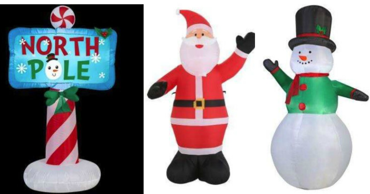 home depot has marked down select christmas inflatables to only 2488 reg price 5998 shipping is free for in store pickup or on orders of 45 - Home Depot Inflatable Christmas Decorations