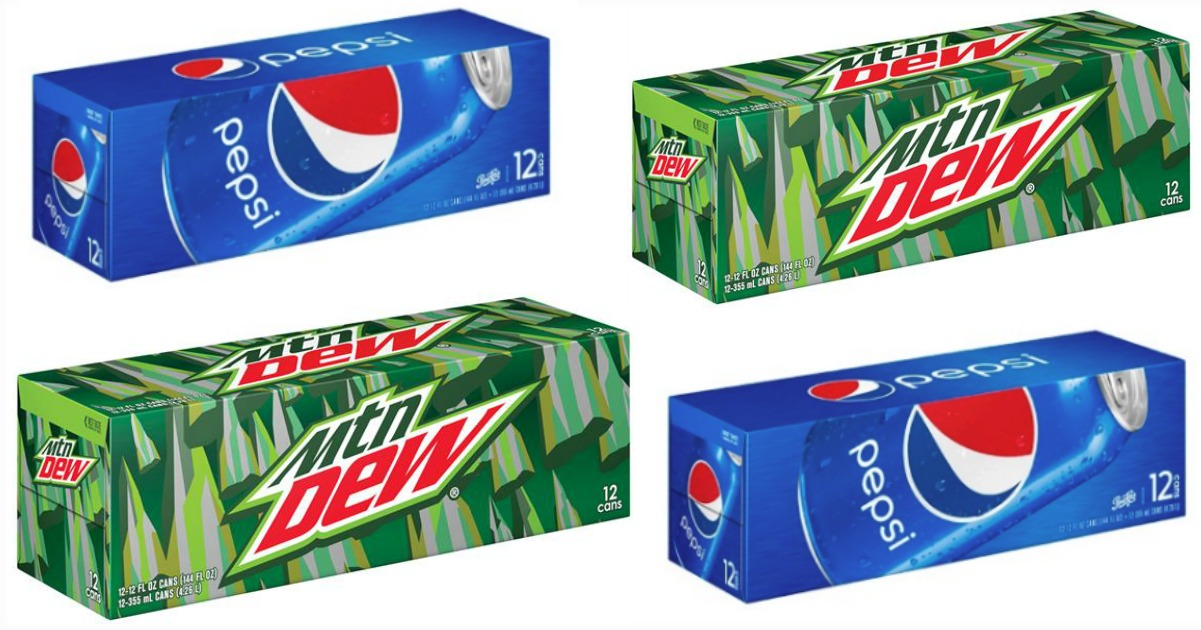 mtn dew & Pepsi 12 packs fb