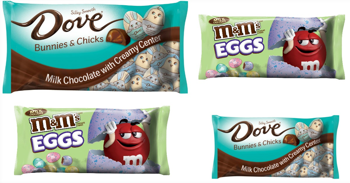 dove & M&M candy fb