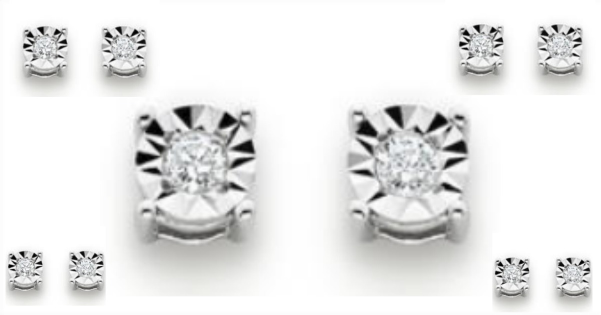 Head Over To Kmart Score These Sterling Silver 1 10 Cttw Diamond Stud Earrings For Just 19 99 Reg Choose Free Pickup Where