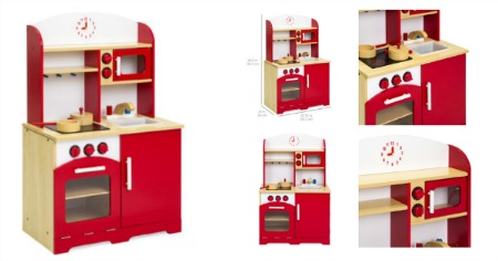 wooden kitchen red featured