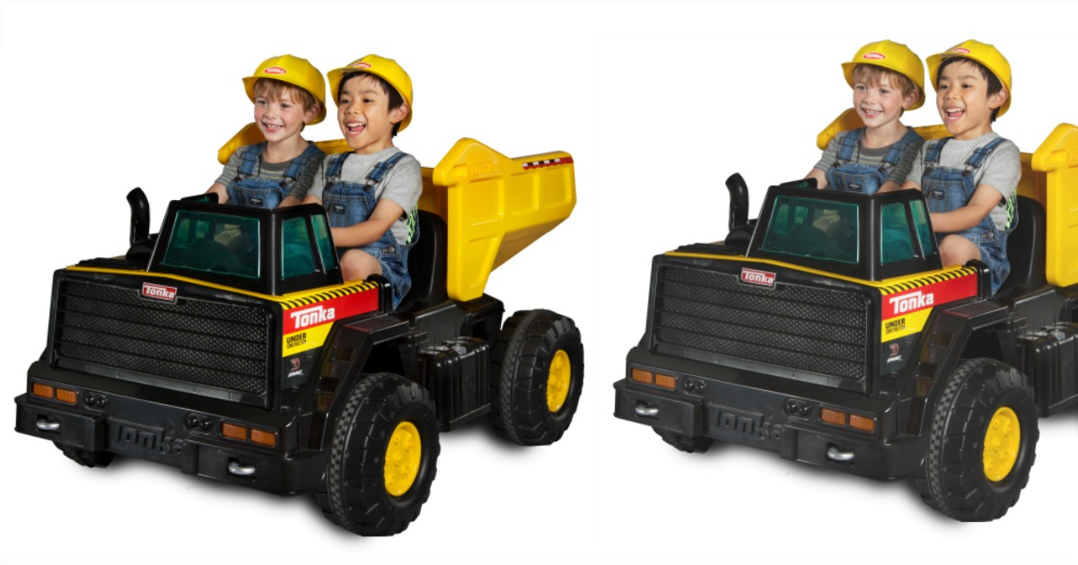 Head On Over To Where You Can Score This Tonka Mighty Dump Truck 12 Volt Battery Ed Ride For Just 149 Reg 349 A Freight Charge Of 25