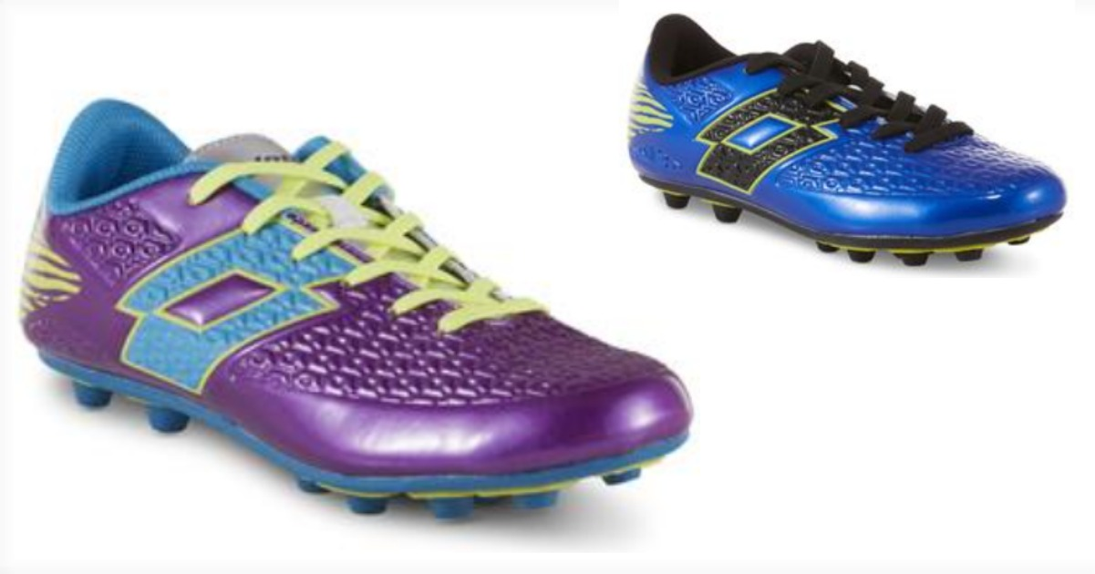 aa516ecb49c Head to Sears.com where you can snag these Lotto Boys  Green Soccer Shoe –  Blue Black Neon or these Lotto Girls  Defender Soccer Cleat – Purple Blue  for ...