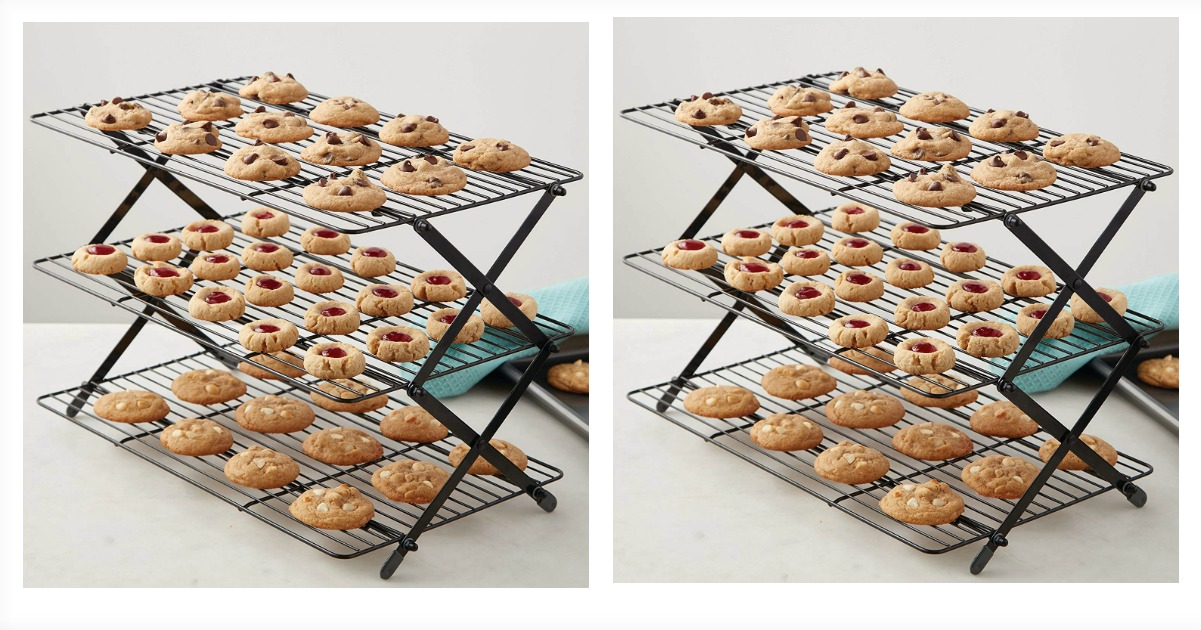 Remarkable Amazon 10 85 3 Tier Folding Cooling Rack 21 10 Value Beutiful Home Inspiration Cosmmahrainfo