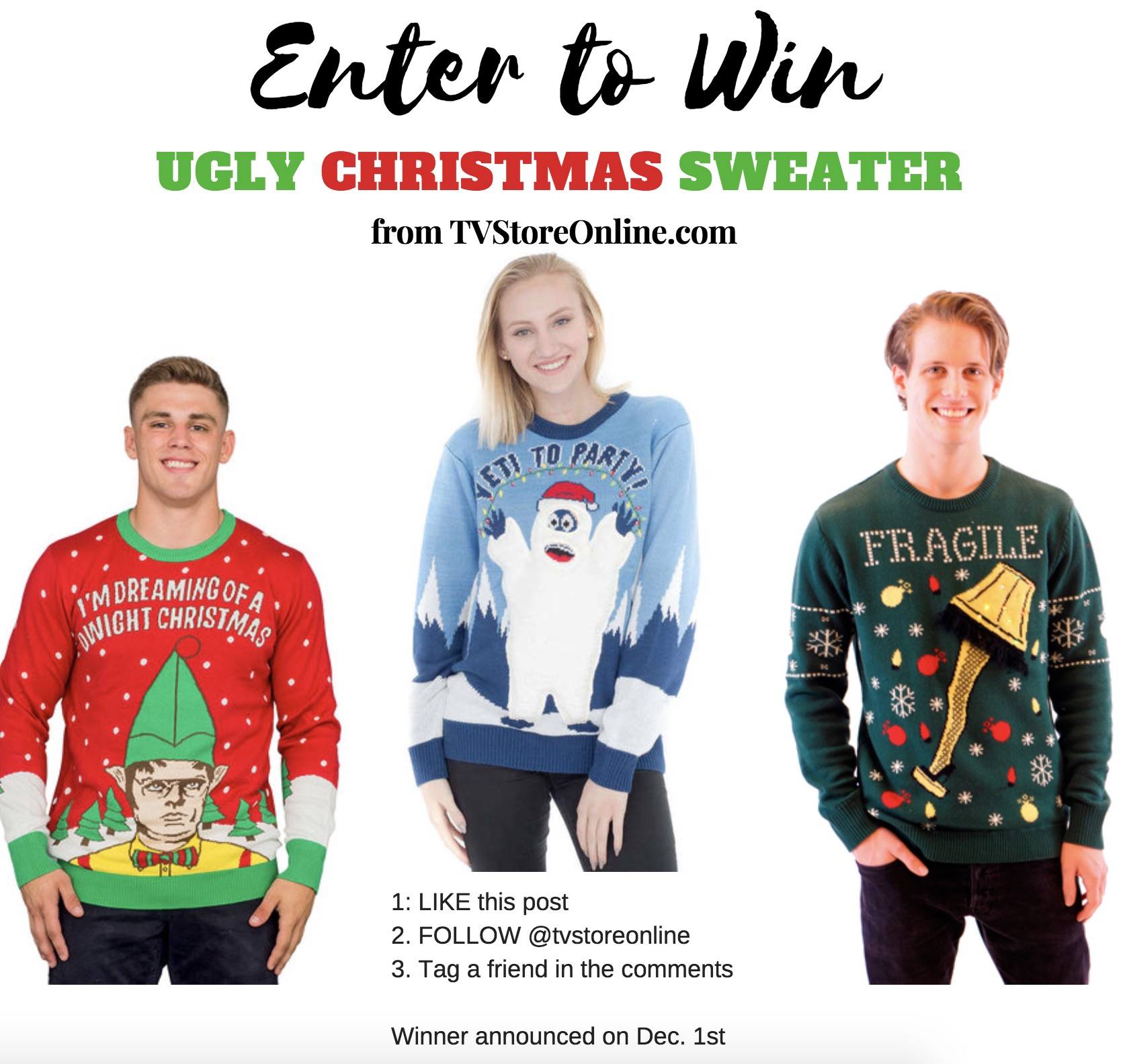 Giveaway} Enter to Win an Ugly Christmas Sweater on my Instagram Page!