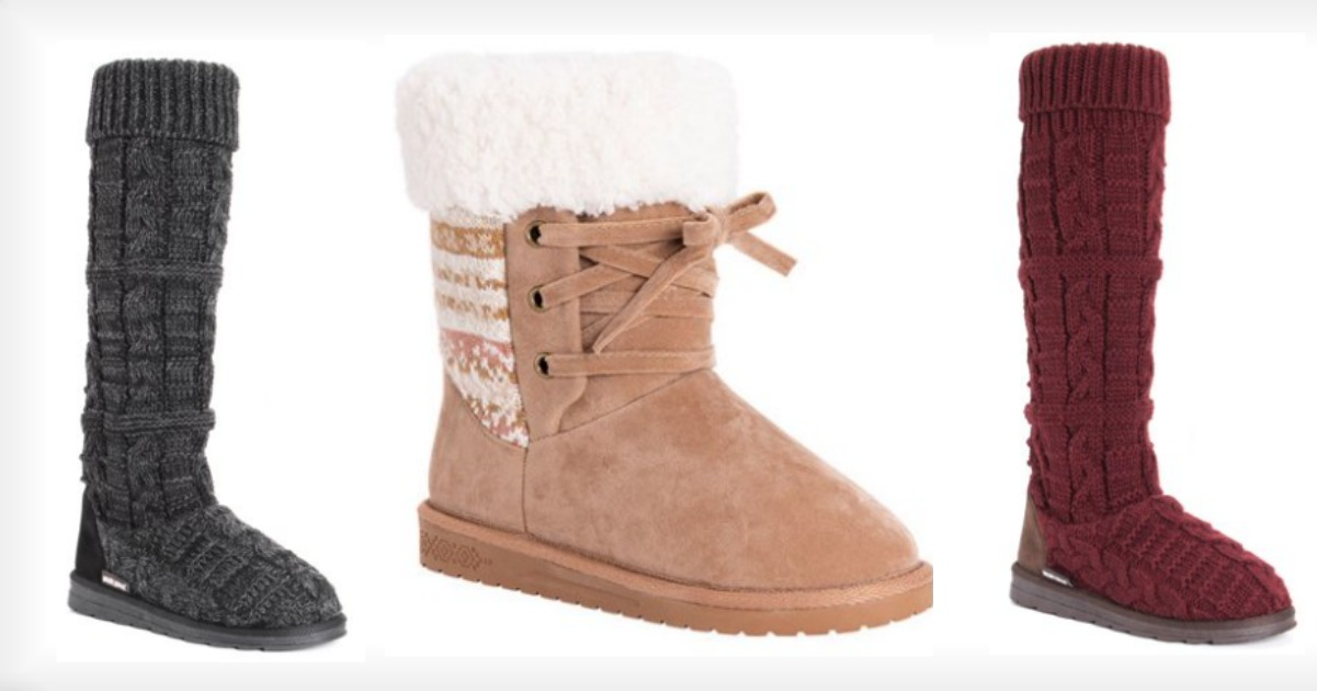 4e5194629d6 Head to Walmart where they have these MUK LUKS® Women s Shelly Slipper Boots  on sale for just  17.50 (reg.  65)