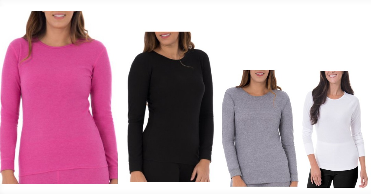 0e92dba2759727 Right now Walmart has these Fruit of the Loom Women s Waffle Thermal  Underwear Crew Top for just  5.96 (reg.  17) + FREE store pickup (where  available) or ...