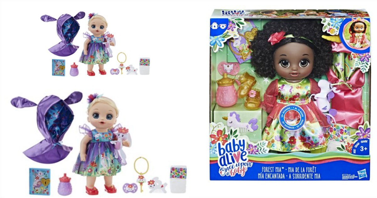Black Curly Hair Baby Alive Once Upon a Baby Forest Tales Forest Mia