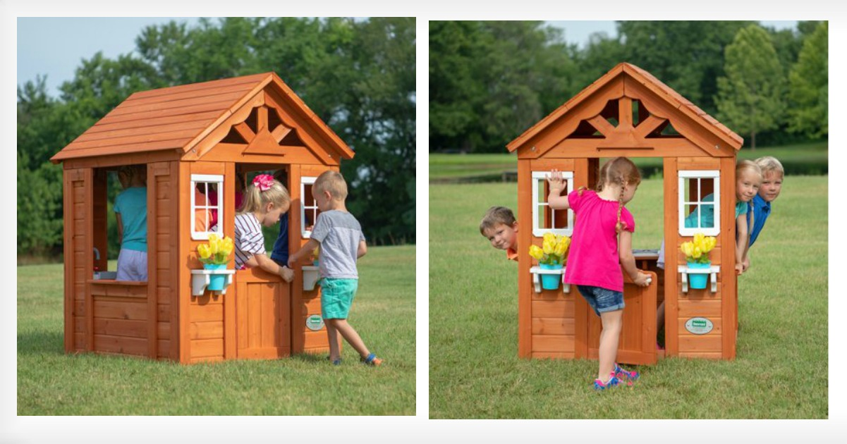 Walmart 15999 Timberlake Cedar Wooden Playhouse Shipped 250 Value